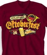 Oktoberfest T Shirt - Oktober Horn desn-838h1