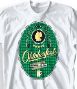 Oktoberfest T Shirt  - German Label desn-823g1