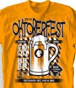 Oktoberfest T Shirt  - German Beer Fest desn-839g1