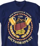 Oktoberfest T Shirt  - Official Brewfest desn-834o1