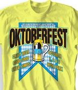Oktoberfest T Shirt  - Label Brewery desn-847l1