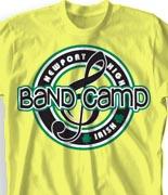 School Band Shirts - Team Logo clas-979t6