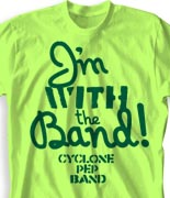 School Band Shirts - Message clas-770m8