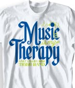 School Band Shirts - Music is my Therapy desn-907m2