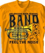 School Band Shirts - Feel the Noise desn-906f1
