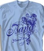 School Band Shirts - Prescript clas-888q1