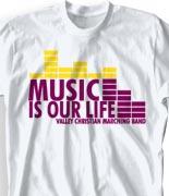 School Band Shirts - Dance Beat desn-313d2