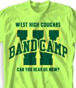School Band Shirts - Varsity Arch desn-352v2
