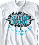 School Band Shirts - Shockwave clas-187s4