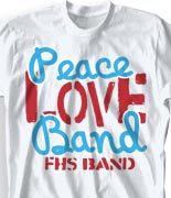 School Band Shirts - Message clas-770m5