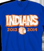 School Spirit T Shirt - Squad Template clas-824w7