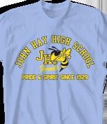 School Spirit T Shirt - Vintage clas-460y6