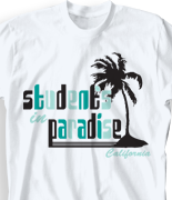 School Spirit T Shirt - Paradise clas-755p3