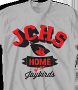 School Spirit T Shirt - Jaybirds Spirit desn-711j2