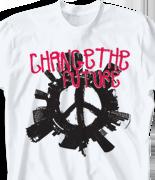 School Spirit T Shirt - City Peace desn-467c1