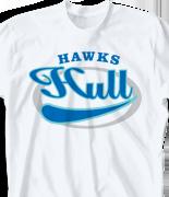 School Spirit T Shirt - Vista Emblem clas-743v6