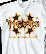 School Spirit T Shirt - Funky Stars clas-382h2