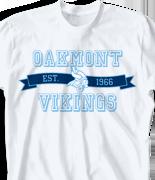 School Spirit T Shirt - Jersey Banner clas-823k1