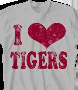School Spirit T Shirt - I Heart Vintage desn-149i6
