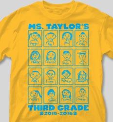 Self Portrait Shirts - Classroom Faces cool-133c1