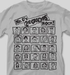 Self Portrait Shirts - Classroom Faces cool-133c6