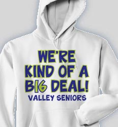 Senior Hooded Sweatshirt- Keep It Classy logo-174k6