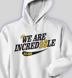Senior Hooded Sweatshirt - Retro Script  clas-631s3