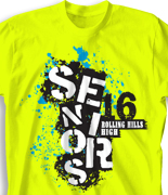 Senior Class T Shirt - Insanity desn-483j8