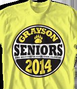 Senior Class T Shirt - Class Decal desn-762c1