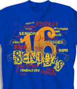Senior Class T Shirt - Random Words desn 956f9