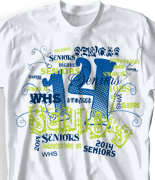 Senior Class T Shirt - Random Words desn 956e8