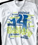 Senior Class T Shirt - Random Words desn 956e8