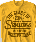 Senior Class T Shirt - Statement clas-787u9