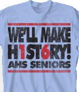 Senior Class T Shirt - Letter Block desn-247n2