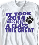 Senior Class T Shirt - Beach Walk Slogan clas-954c4