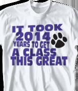 Senior Class T Shirt - Beach Walk Slogan clas-954c4