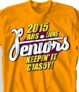 Senior Class T Shirt - Senior C14SS desn-735s3