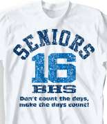 Senior Class T Shirt - Acid Wash clas-524e4