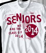 Senior Class T Shirt - A Brand desn-502a2