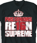 Senior Class T Shirt - Crown Seniors logo-233c2