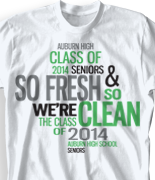 Senior Class T Shirt - Random Words desn-268t8