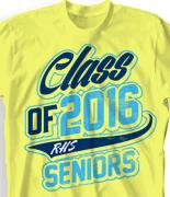 Senior Class T Shirt - Classy Class desn-726e9