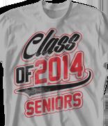 Senior Class T Shirt - Classy Class desn-726c1