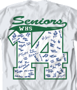 Senior Class T Shirt - Block Year clas-449n8