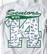 Senior Class T Shirt - Block Year clas-449n8