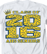 Senior Class T Shirt - Crown Collegiate desn-485c3