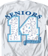 Senior Class T Shirt - Digit Year desn 150d8