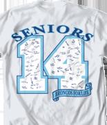 Senior Class T Shirt - Digit Year desn 150d8