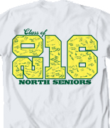 Senior Class T Shirt - Stack Up Year desn 601t1