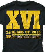 Senior Class T Shirt - Roman Year desn-227r9